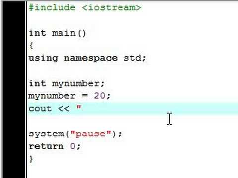 C++ Tutorial - 3 - Declaration Statements and Variables