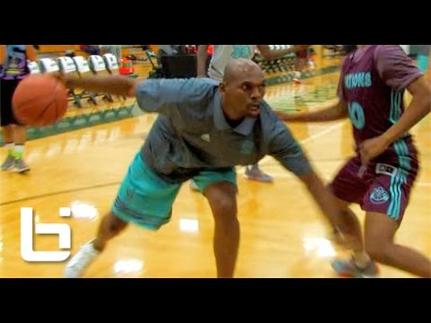 """40Yr Old Jerry Stackhouse 1v1 Against HS Players At Adidas Nations! """"Easy Work"""""""