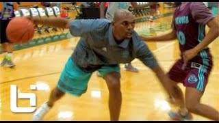 40Yr Old Jerry Stackhouse 1v1 Against HS Players At Adidas Nations!