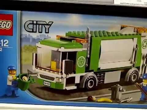Lego recycle truck 4432 bin lorry garbage truck + bins - YouTube