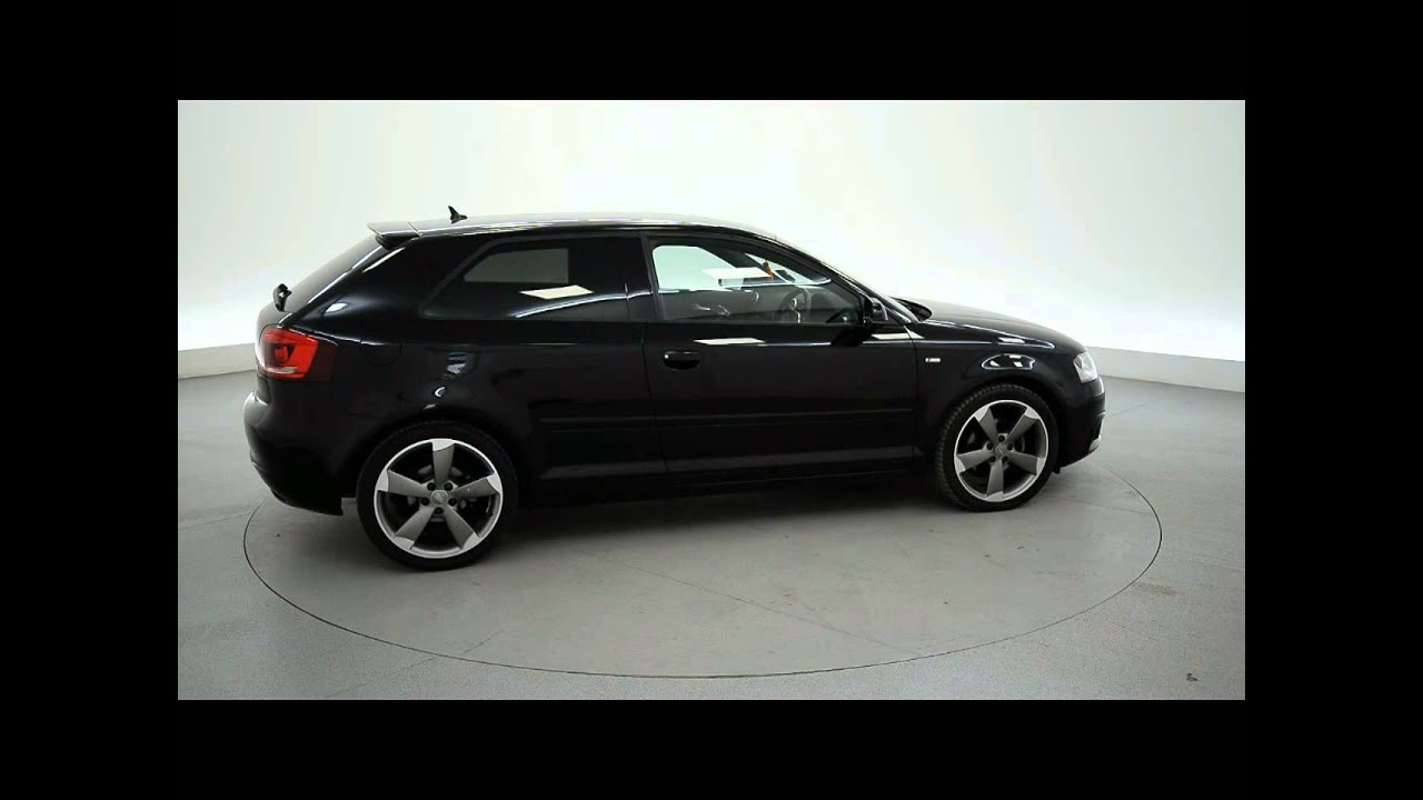 audi a3 1 8 tfsi black edition 3dr s tronic for sale in hampshire youtube. Black Bedroom Furniture Sets. Home Design Ideas