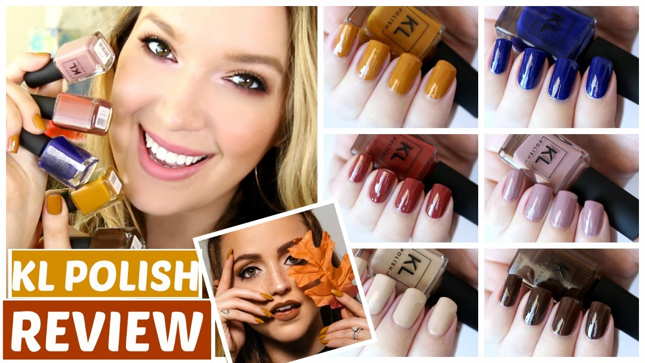 KathleenLights KL POLISH Review + Swatches | JennyClaireFox - YouTube