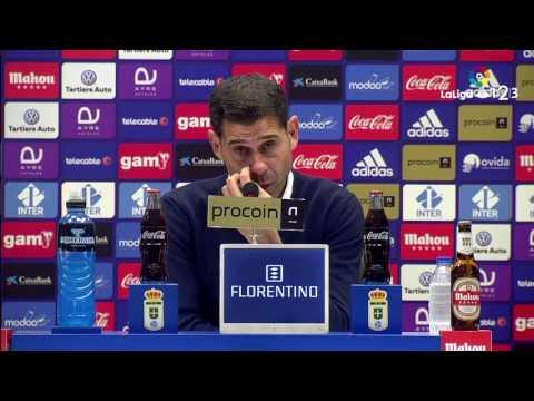Rueda de prensa de Fernando Hierro Real Oviedo vs Getafe CF (2-1)