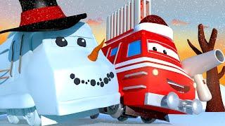 Поезд обогреватель Трой сражается со снежным монстром!
