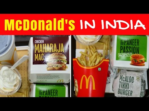 McDonald's in India | Eating Indian McDonalds menu taste test in Kolkata