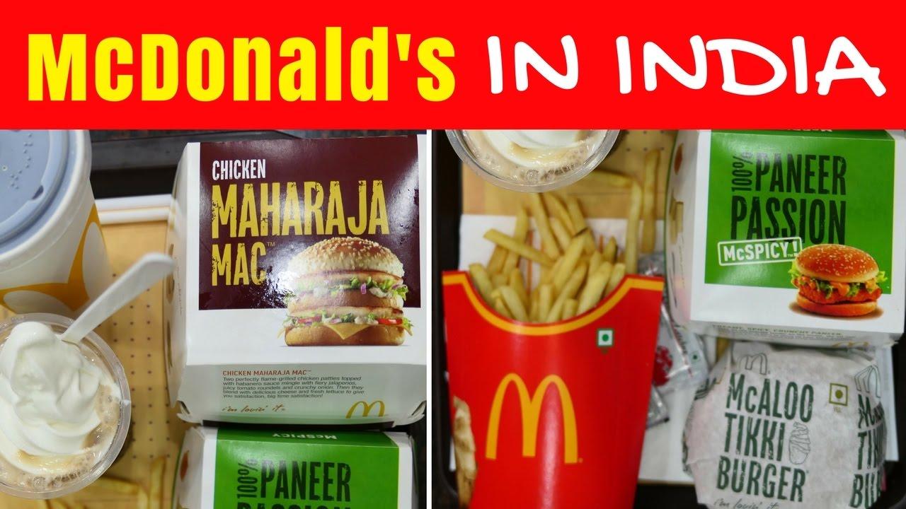Mcdonald S In India Eating Indian Mcdonalds Menu Taste Test In Kolkata Youtube