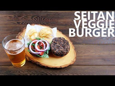 Seitan Veggie Burger | Vegetarian Recipe