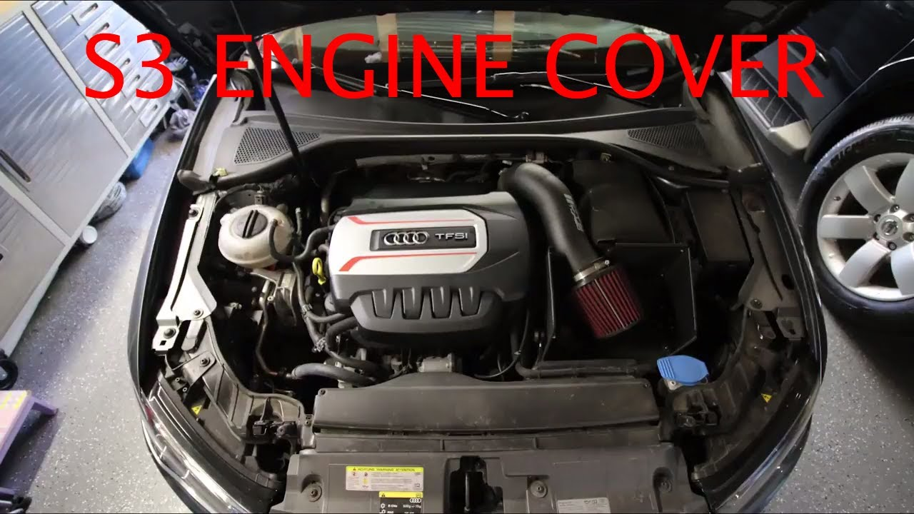 2015 audi a3 s3 engine cover youtube. Black Bedroom Furniture Sets. Home Design Ideas