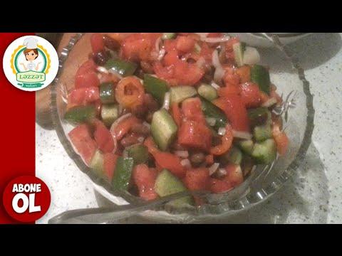 Ispan Salati Empedrado de judias (Ispan Salatasi) ( Испанский салат )