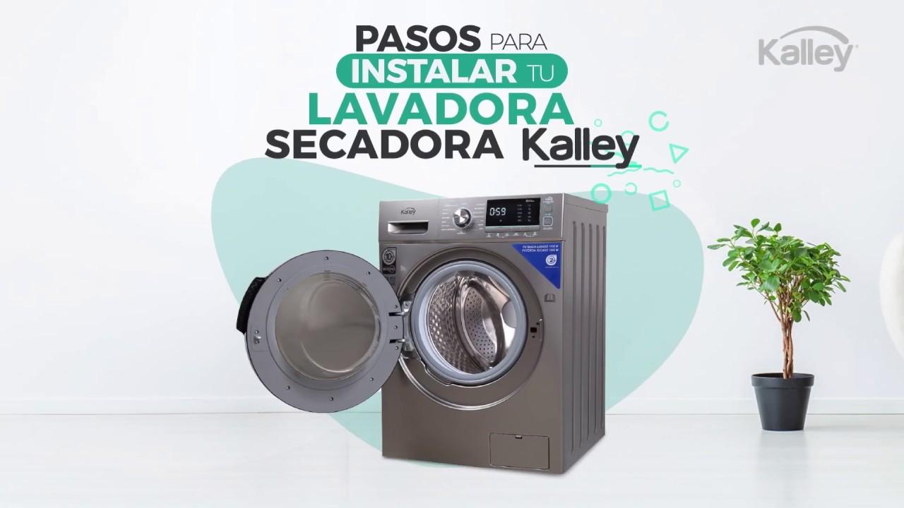 ¿Cómo instalar tu Lavadora Secadora #Kalley?