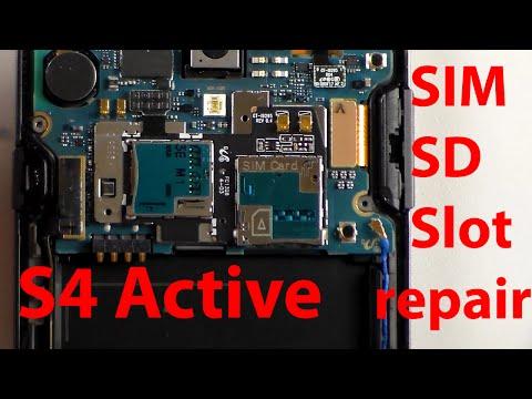 Let´s repair - Samsung S4 Active SIM-SD Slot reparieren wechslen, repair