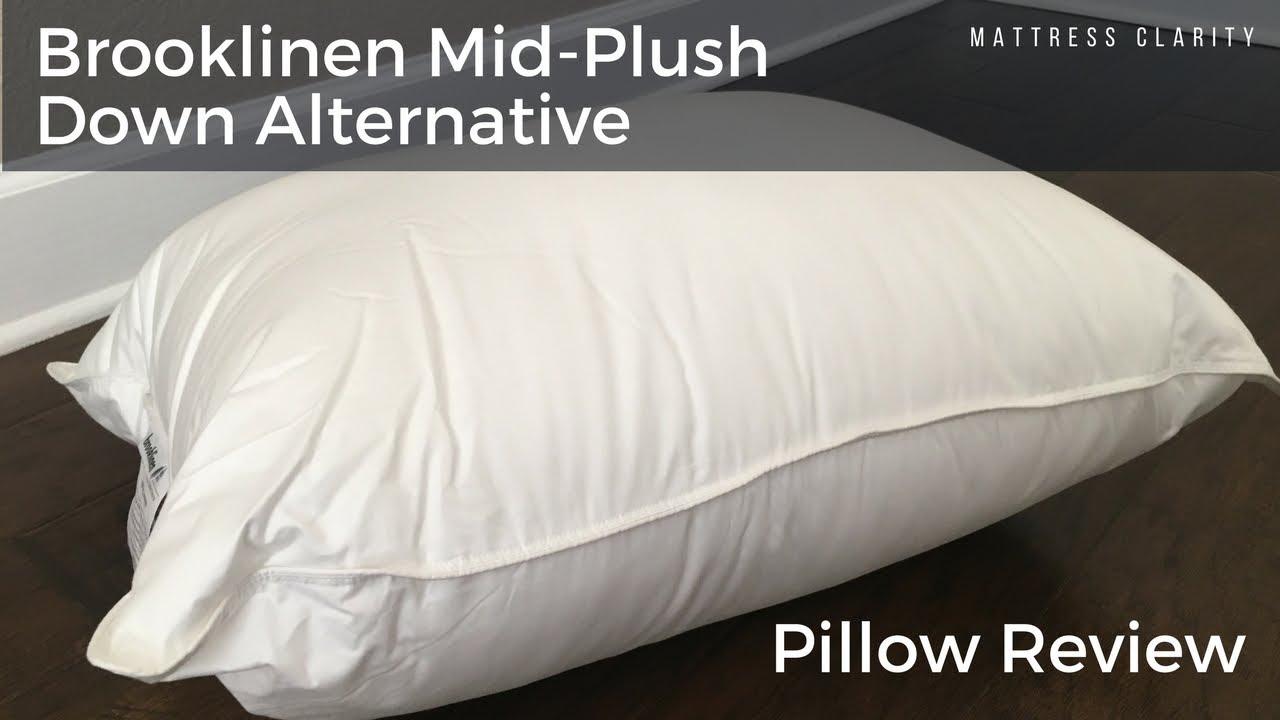 Brooklinen Mid Plush Down Alternative Pillow Review Youtube
