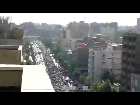 Silent march against election of Ahmadinejad in Iran - Tehran 17 June 2009