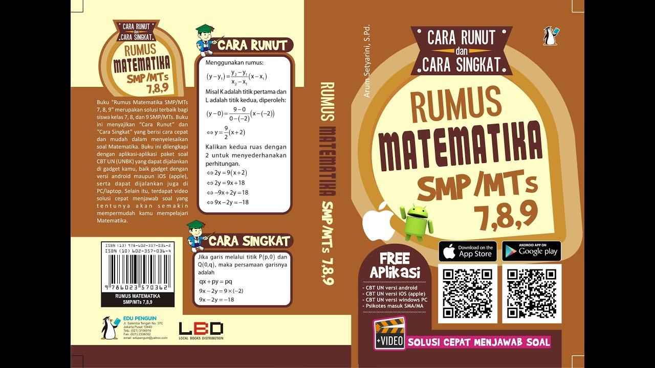 Buku Rumus Matematika SMP MTs 7 8 9