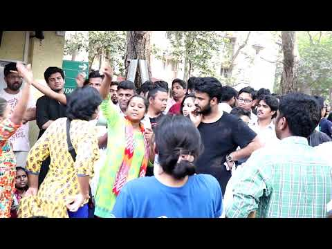 TISS student's strike against withdrawl of GoI scholarship -Day 1