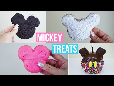 DIY MICKEY MOUSE SHAPED TREATS #3 | DISNEYLAND INSPIRED