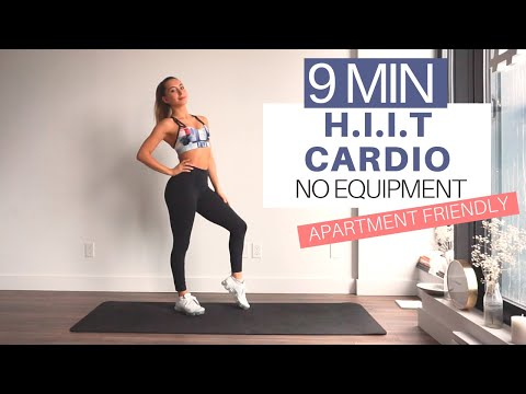 9 MIN HIIT HIGH INTENSITY CARDIO HOME WORKOUT | Low Impact Variations | No Equipment | Apt Friendly
