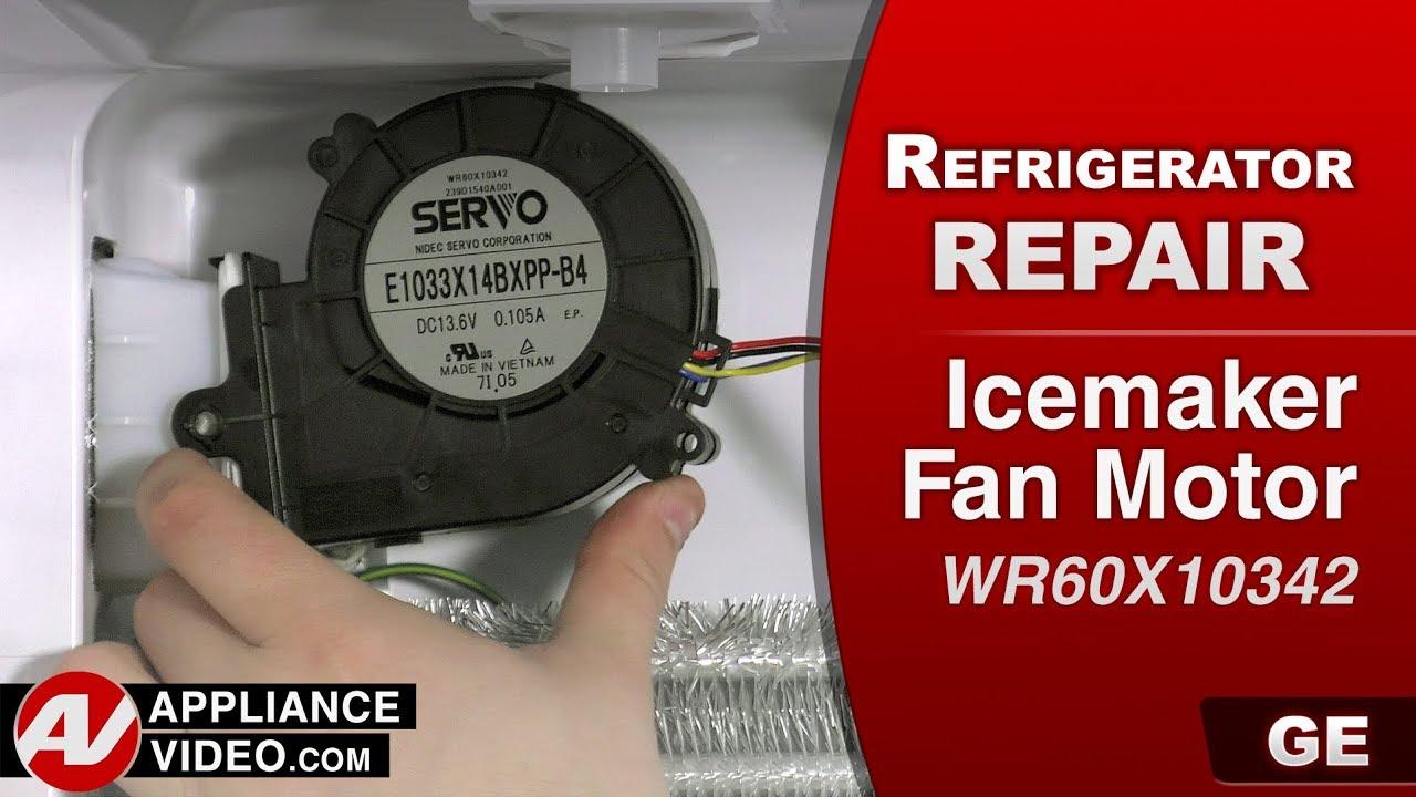 GE, General Electric Refrigerator – Diagnostic & Repair- Ice maker Fan Motor