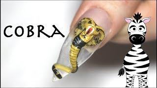 3D Cobra Acrylic Nail Art Tutorial