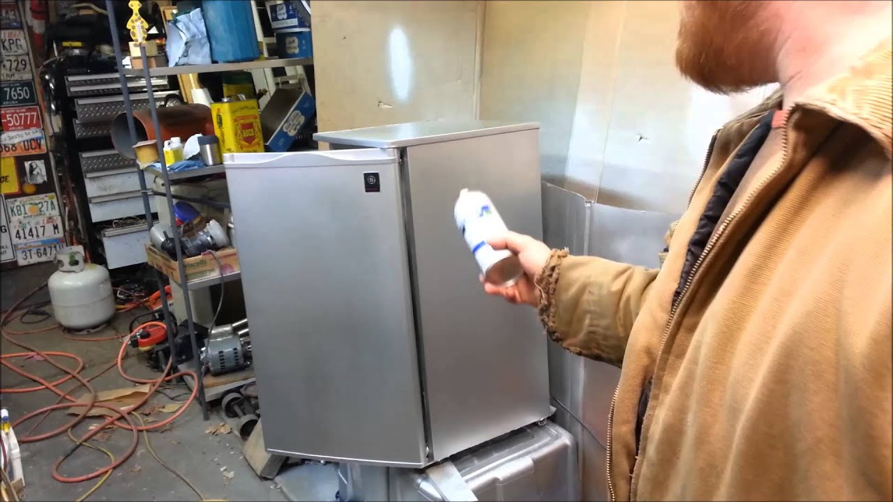Design Stainless Steel Paint faux stainless steel fridge paint it yourself youtube