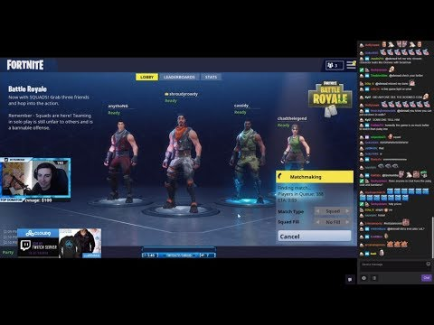 Shroud Plays Fortnite Battle Royale With Chad, AnythiNG & Cassidy (1 hour)