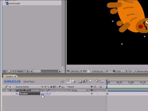 After Effects Tutorial - 8 - Animating Rotation