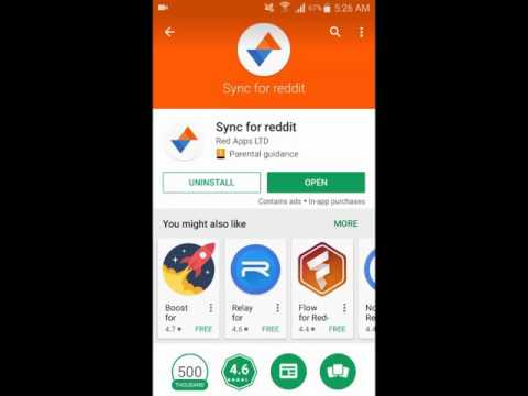 Sync For Reddit - A Beautiful Material Design With Cards Experience
