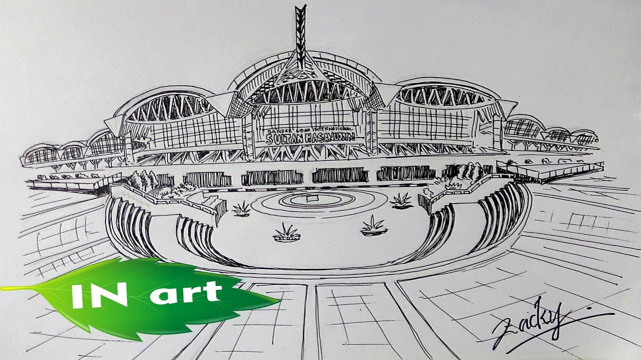 Koleksi Gambaran Sketsa Bandara