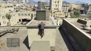 Grand Theft Auto V - Casing The Jewel: Rooftop Vent Vantage Point Photo Lester Chat, Skyline View