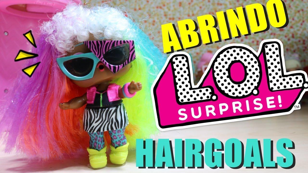 Abrindo Boneca LOL Surprise Hair Goals LOL com cabelo