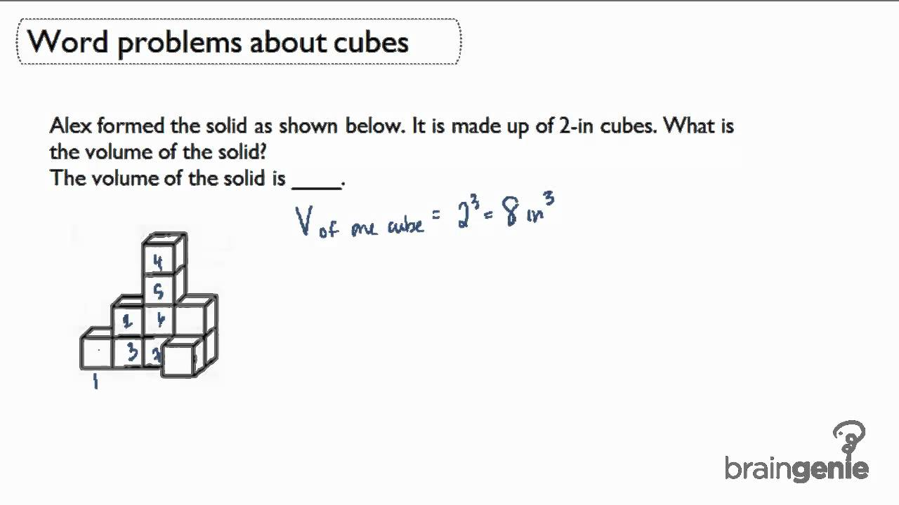 421 Word Problems About Cubes Volume Of Solid Youtube