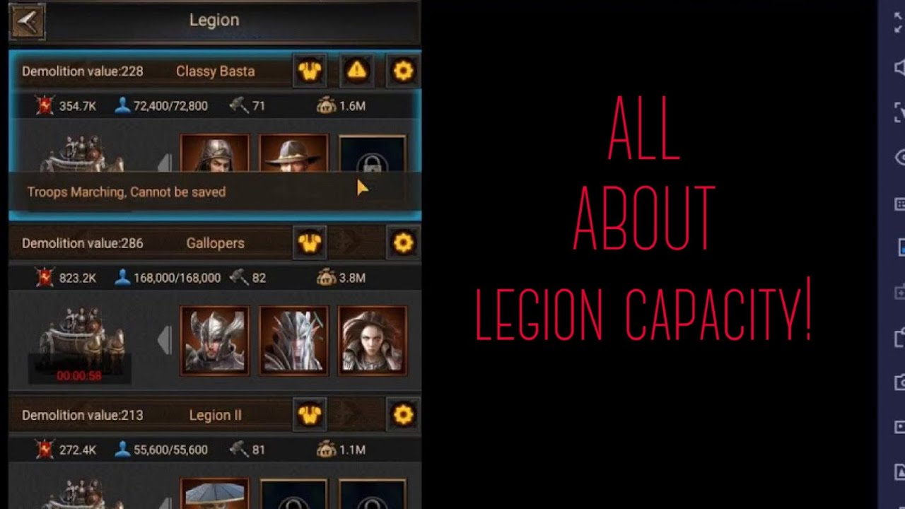 Legion Marching Capacity Rise Of Empires Ice And Fire Tips Youtube