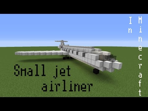 How to build a small jet airliner in Minecraft