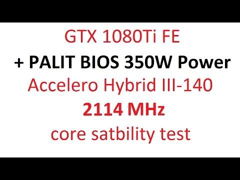 GTX 1080 TI FE + PALIT BIOS 350W Power Limit ( Firestrike ULTRA TEST )