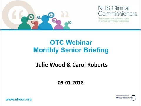 OTC Webinar with Julie Wood from NHSCC   Monthly Senior Brie