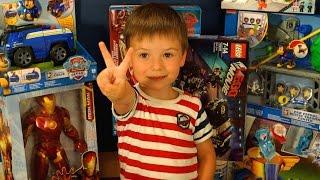 Открываем Посылку с Игрушками из Детского Мира. Щенячий Патруль Железный Человек Тачки Лего Фиксики