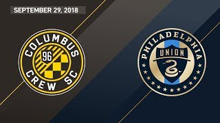 HIGHLIGHTS: Columbus Crew SC vs. Philadelphia Union | September 29, 2018