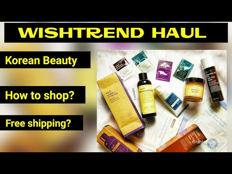 Wishtrend Haul India |Korean Beauty | How to shop | Website Tour |Huge Discounts |Free Shipping