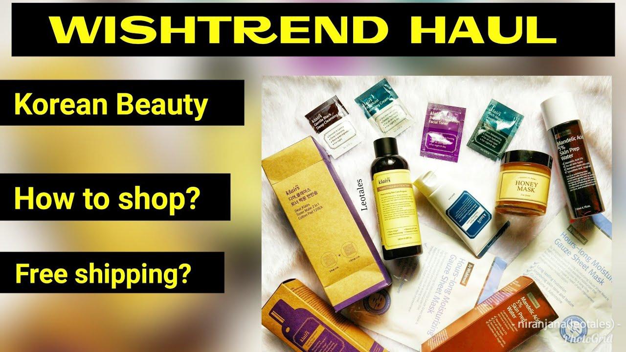 b491cc0209 Wishtrend Haul India |Korean Beauty | How to shop | Website Tour ...