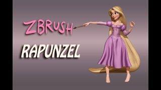 Rapunzel Tangled Zbrush Timelapse
