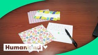 Hundreds of notes left on students' desks