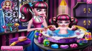 Monster Baby Wash  - Monster High Baby Wash Game For Girls