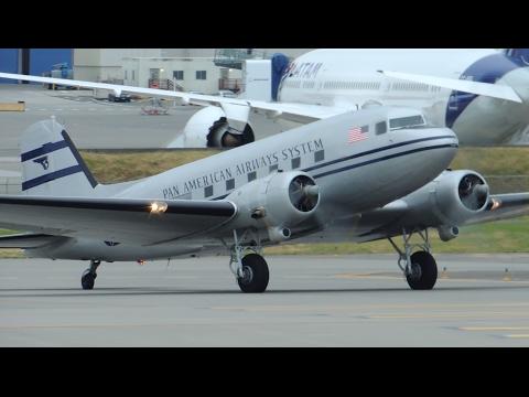 Pan American Airways Douglas DC-3 [N877MG] takeoff from PAE