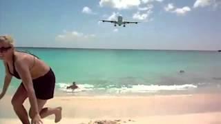 Прикол   пляжный аэропорт! Прикольные посадки у пляжа