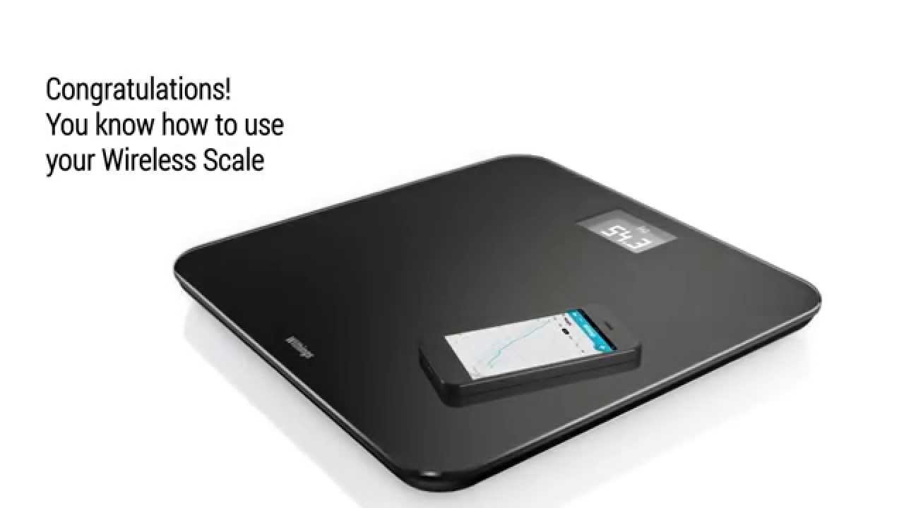 How to use your Wireless Scale