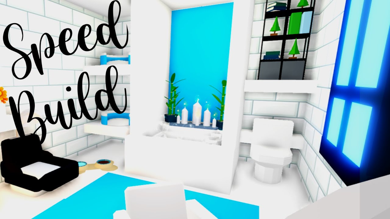 Adopt Me Bathroom Build Adopt Me Futuristic House Adopt Me Throwback Adopt Me Speed Build Youtube