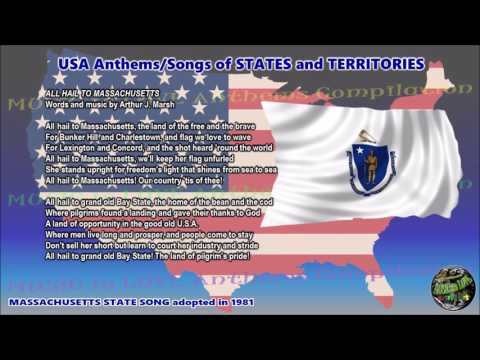 Massachusetts State Song ALL HAIL TO MASSACHUSETTS with music, vocal and lyrics