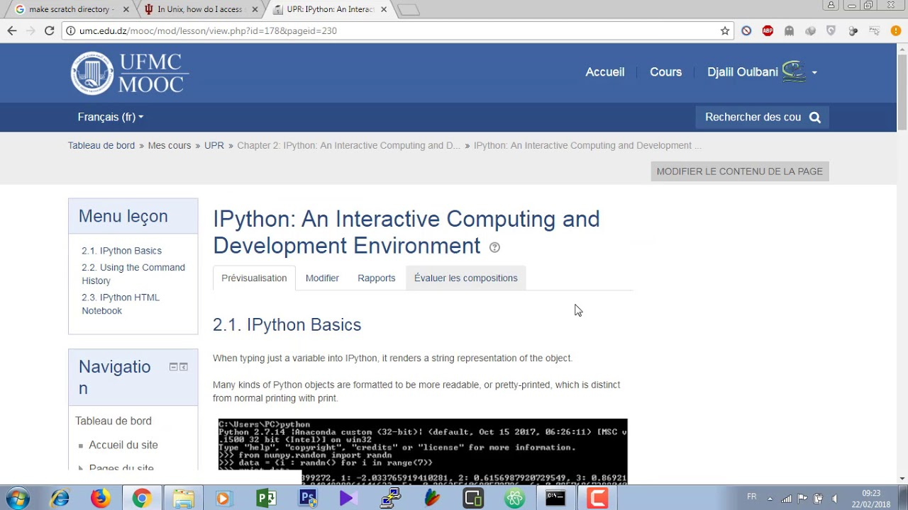 Launch IPython on the command line and Basics Tab Completion (HPC UMC1)