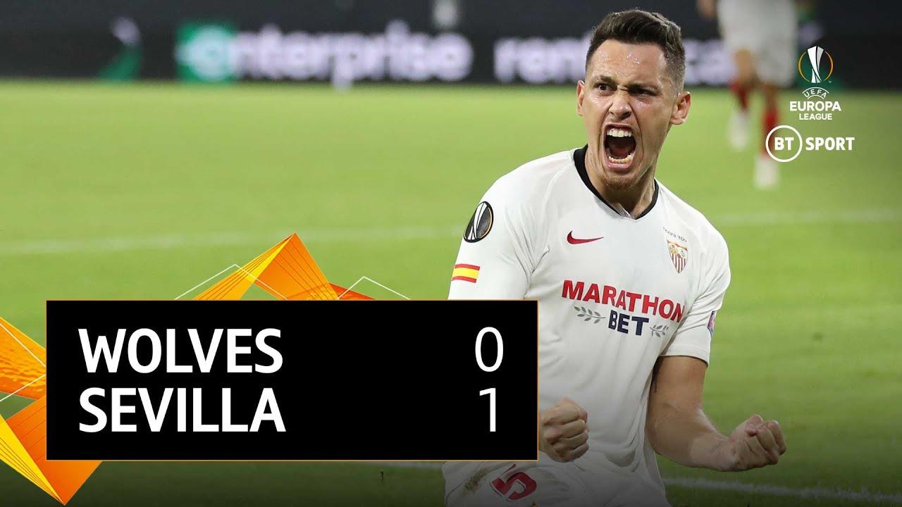 Wolves v Sevilla (0-1)   UEFA Europa League Highlights