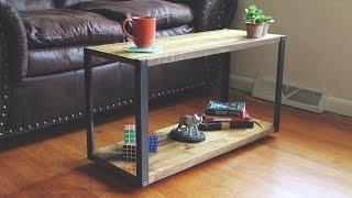 Modern DIY Coffee Table with Aluminum Legs